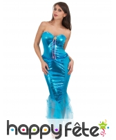 Déguisement robe de sirène bleue pour femme
