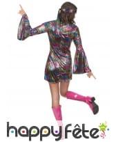 Déguisement robe disco courte et colorée, image 2