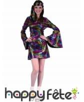 Déguisement robe disco courte et colorée, image 3