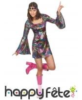 Déguisement robe disco courte et colorée