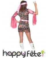 Déguisement robe disco courte, motifs rose, image 3