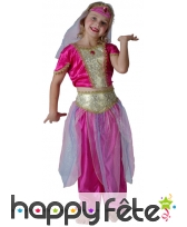 Déguisement rose de petite danseuse orientale