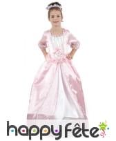 Déguisement rose de petite princesse