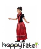 Déguisement rouge de petite princesse vampire, image 2