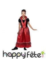 Déguisement rouge de petite princesse vampire, image 1