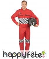 Déguisement rouge de pilote de course pour homme