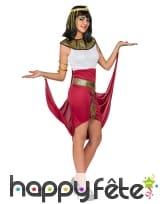 Déguisement robe égyptien blanche rouge, image 1