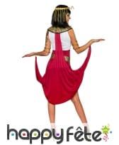 Déguisement robe égyptien blanche rouge, image 2