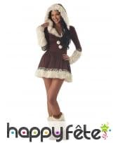 Déguisement robe Eskimo pour femme, image 3
