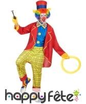 Déguisement rouge et jaune de clown