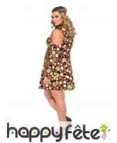 Déguisement robe hippie fleurie grande taille, image 1