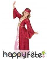 Déguisement robe médiévale rose pour fille, image 1