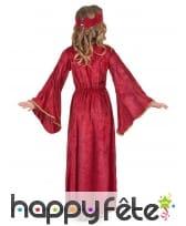 Déguisement robe médiévale rose pour fille, image 2