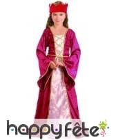 Déguisement robe médiévale rose pour fille, image 3