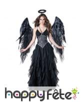 Déguisement robe noire d'ange déchue