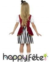 Déguisement robe rayée de piratesse pour enfant, image 1