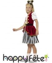 Déguisement robe rayée de piratesse pour enfant, image 2