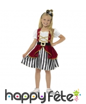 Déguisement robe rayée de piratesse pour enfant
