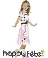 Déguisement robe rock rose années 50 pour enfant, image 1