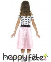 Déguisement robe rock rose années 50 pour enfant, image 2