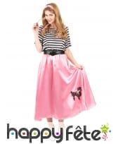 Déguisement robe rose années 50