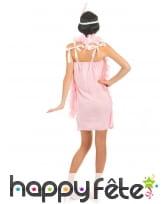 Déguisement robe rose charleston à franges, image 2