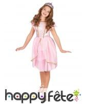 Déguisement robe rose de petite princesse