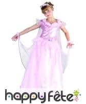 Déguisement robe rose de princesse pour fillette