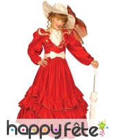 Déguisement robe rouge de marquise pour fillette