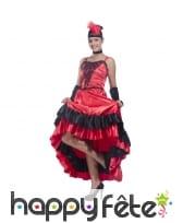 Déguisement robe rouge moulin rouge