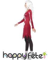 Déguisement robe squelette coeur lumineux, image 2