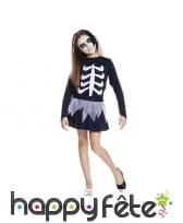 Déguisement robe squelette pour enfant