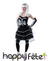 Déguisement robe squelette pour femme