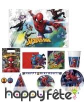 Déco Spiderman à l'action pour table anniversaire
