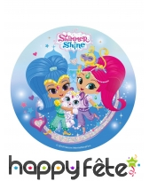 Disque Shimmer and Shine friends en sucre 20 cm