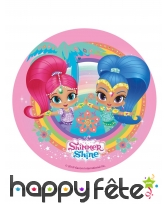 Disque Shimmer and Shine tropical en azyme 20 cm
