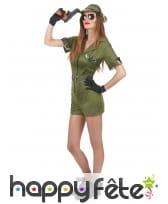 Déguisement shorty court de femme militaire, image 1