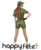 Déguisement shorty court de femme militaire, image 2