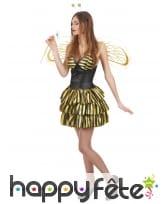 Déguisement sexy d'abeille pour femme, image 1