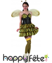 Déguisement sexy d'abeille pour femme, image 3