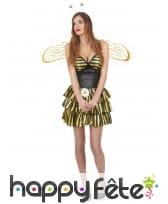 Déguisement sexy d'abeille pour femme