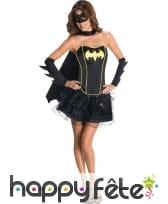 Déguisement sexy de Batgirl avec bustier, image 3
