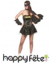 Déguisement sexy de Batgirl avec bustier