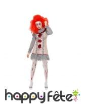 Déguisement sinistre de clownette vintage, image 1