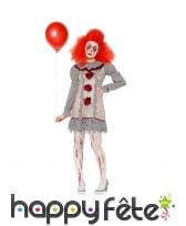 Déguisement sinistre de clownette vintage