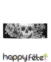 Décoration skull fleuri pour table, image 2