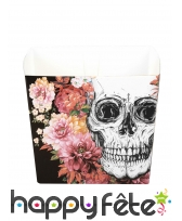 Décoration skull fleuri pour table, image 4