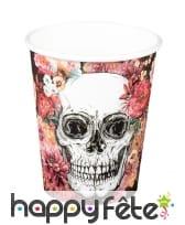 Décoration skull fleuri pour table, image 5