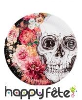 Décoration skull fleuri pour table, image 6