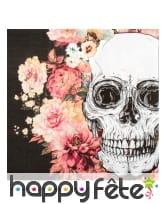 Décoration skull fleuri pour table, image 7